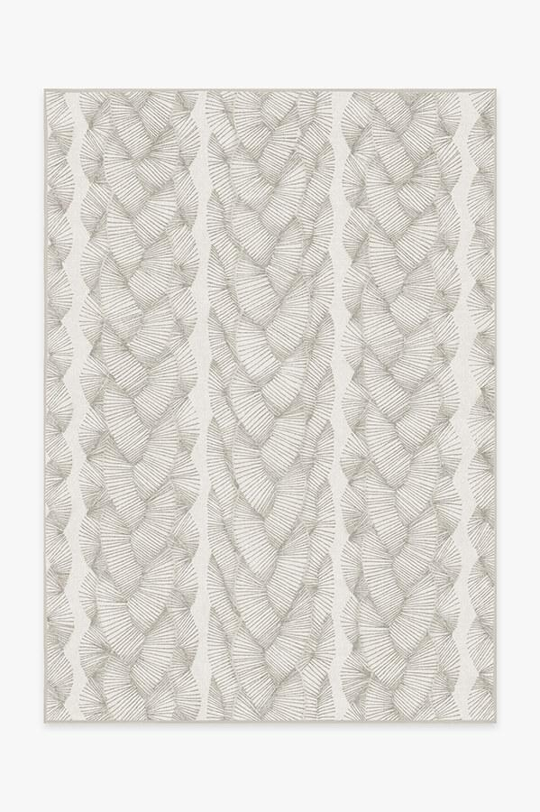 Washable Rug Cover   Nodum Light Grey Rug   Stain-Resistant   Ruggable   5'x7'