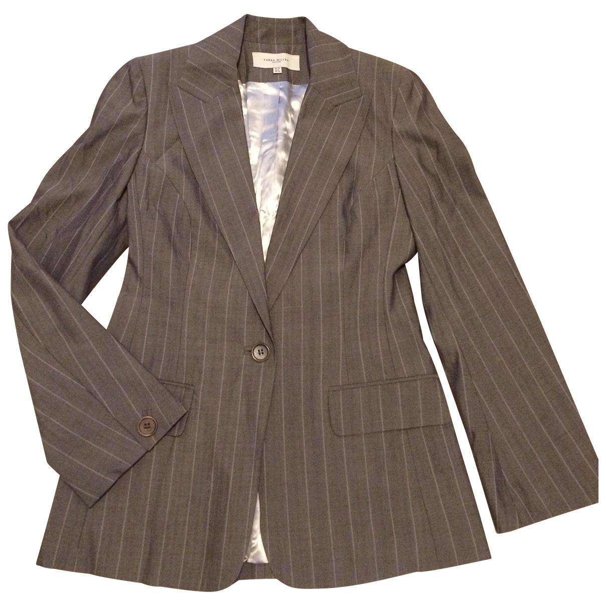 Karen Millen \N Grey Wool jacket for Women 40 FR