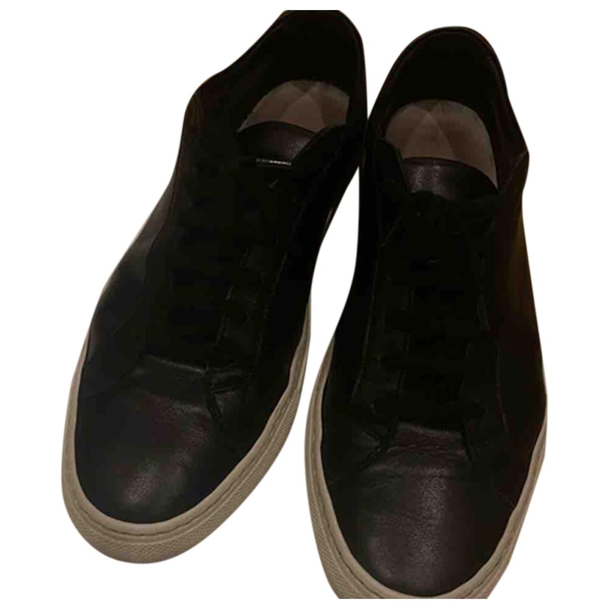 Common Projects \N Sneakers in  Schwarz Leder
