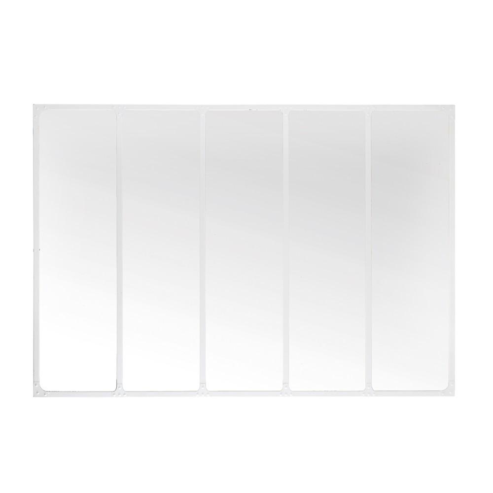 Spiegel mit weissem Metallrahmen, 123x180