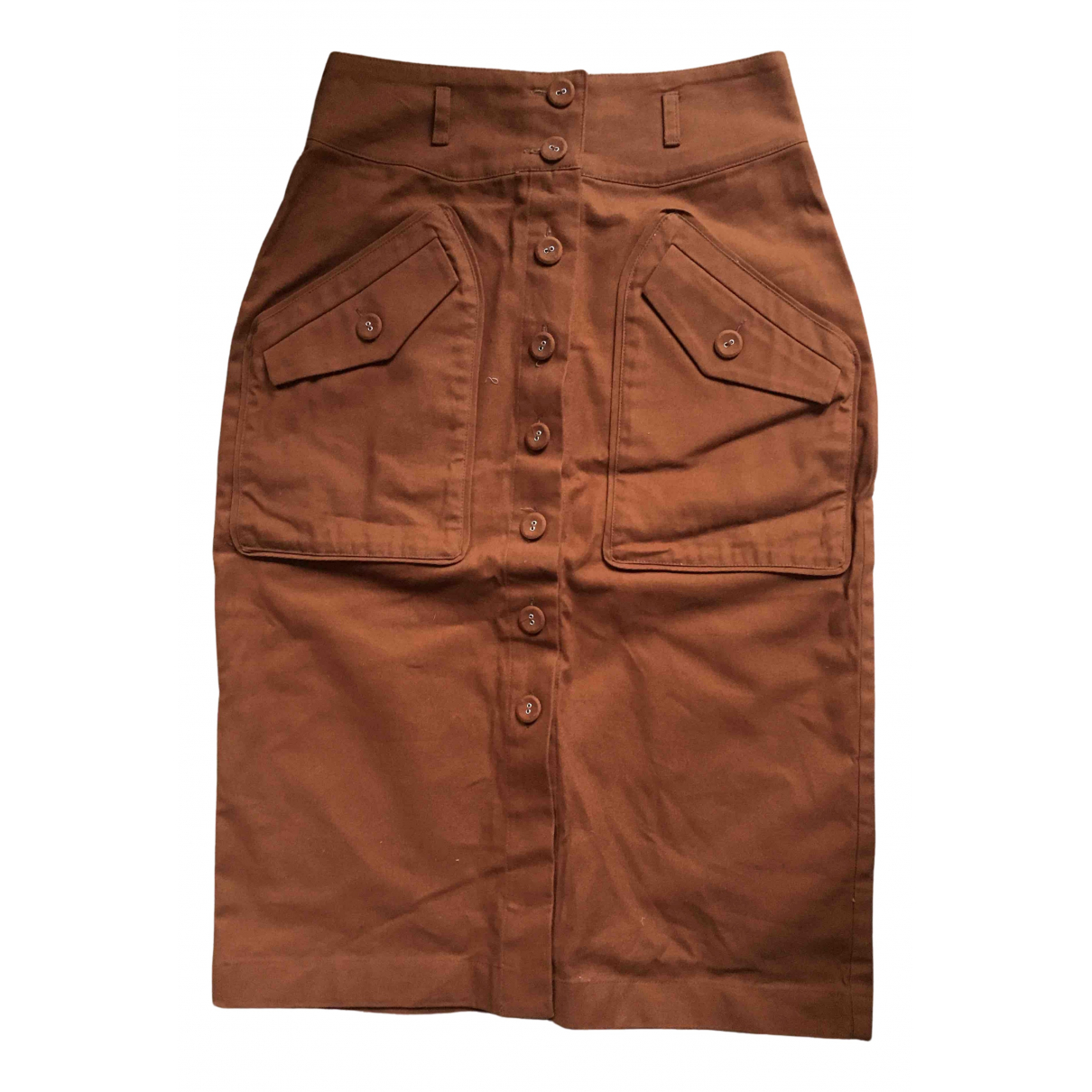 Valentine Gauthier N Brown Cotton skirt for Women 38 FR
