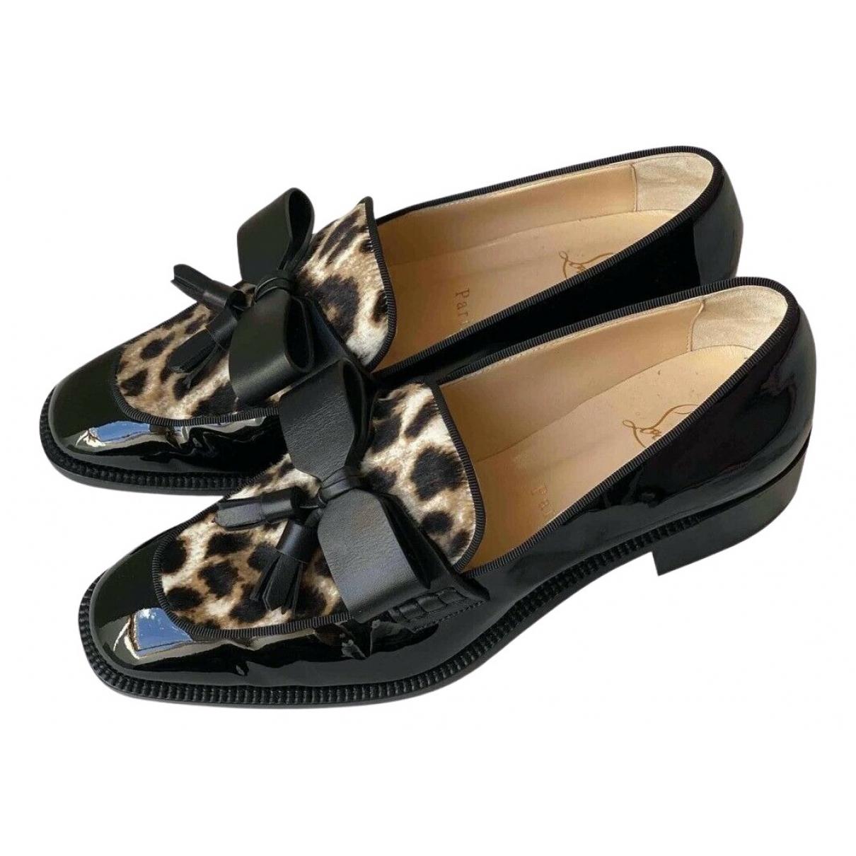 Christian Louboutin \N Black Patent leather Flats for Women 36 EU
