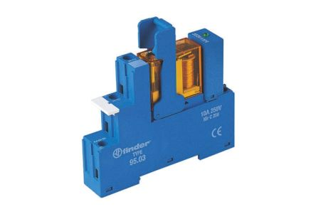 Finder , 12V ac SPDT Interface Relay Module, Screw Terminal , DIN Rail