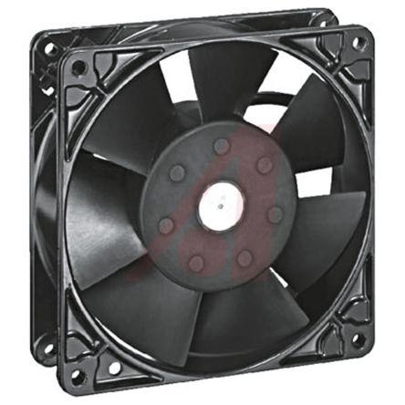 ebm-papst , 115 V ac, AC Axial Fan, 127 x 127 x 38mm, 206m³/h, 17W