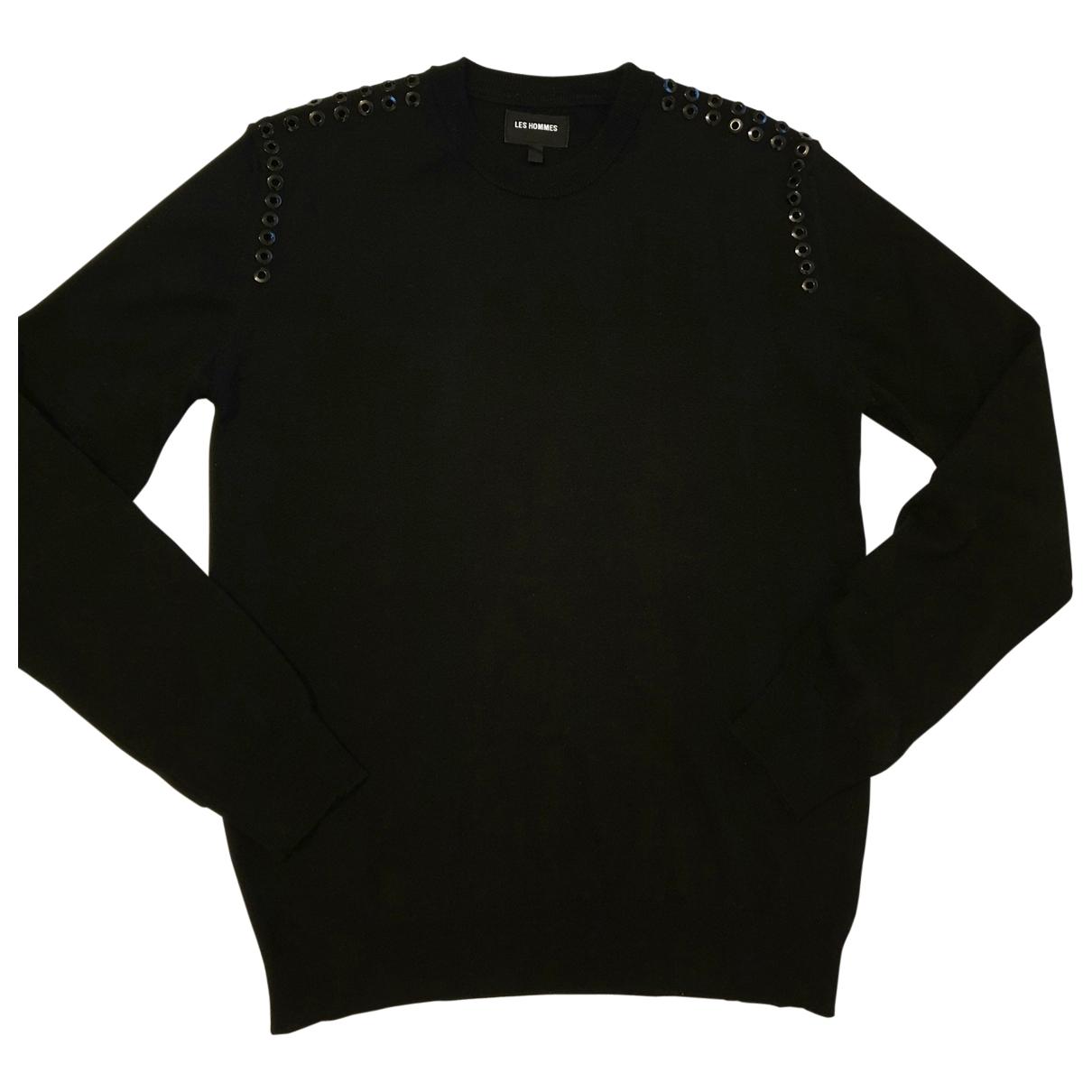 Les Hommes \N Pullover.Westen.Sweatshirts  in  Schwarz Wolle