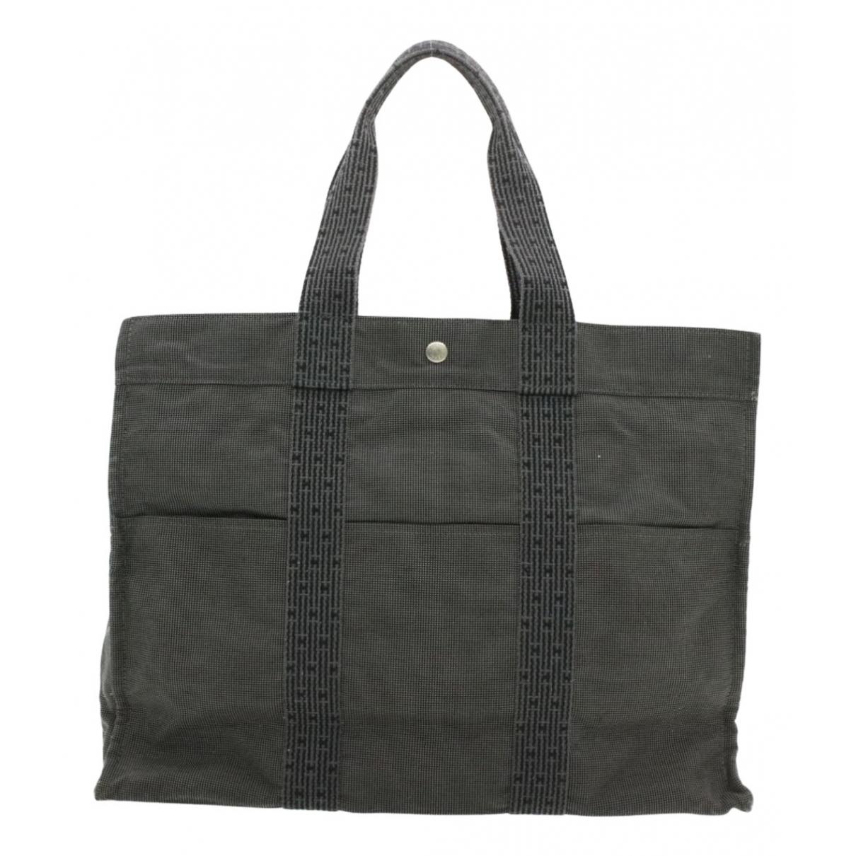 Hermès Herline Grey Cloth handbag for Women N