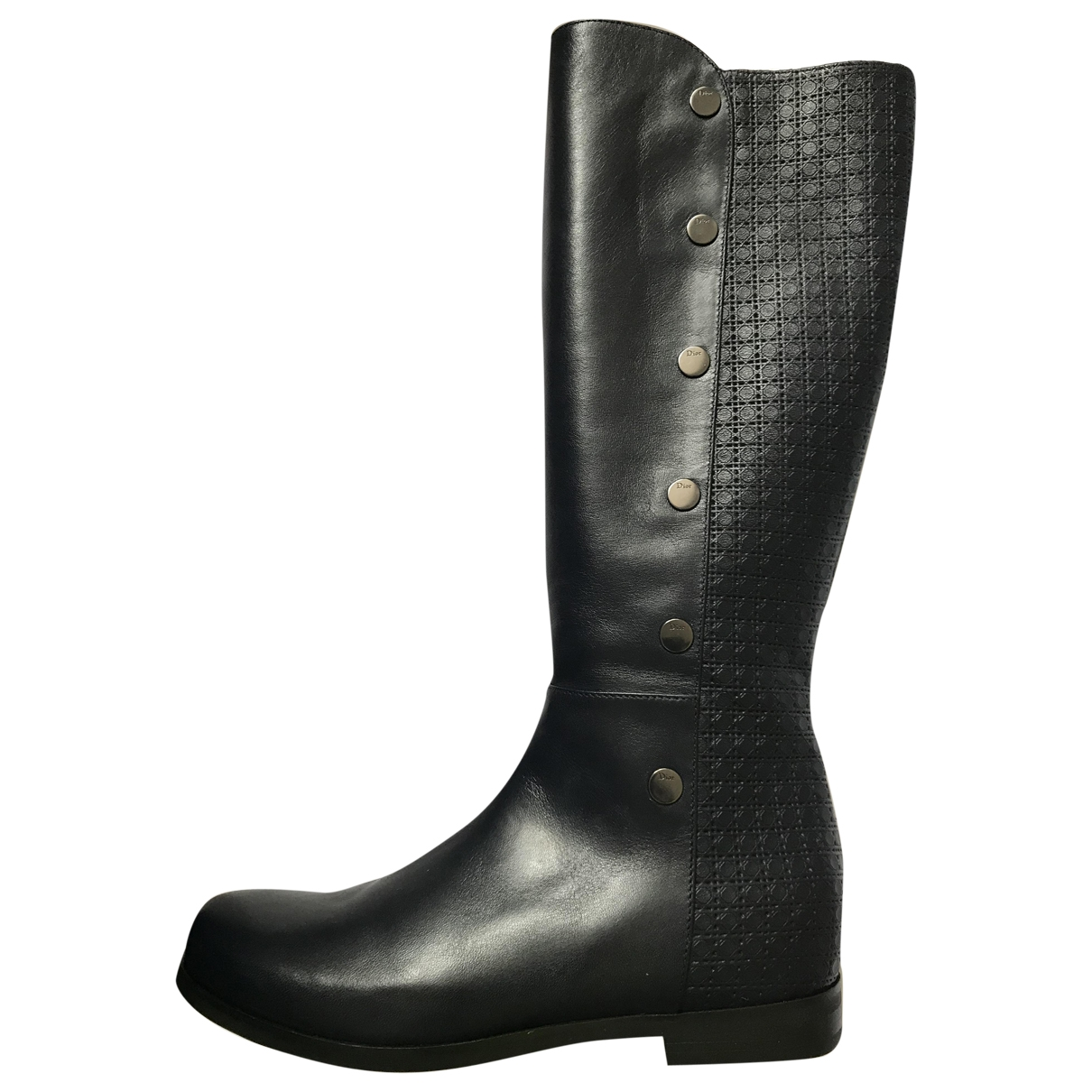 Dior \N Blue Leather Boots for Women 35 EU