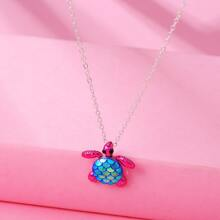 Toddler Girls Turtle Charm Necklace