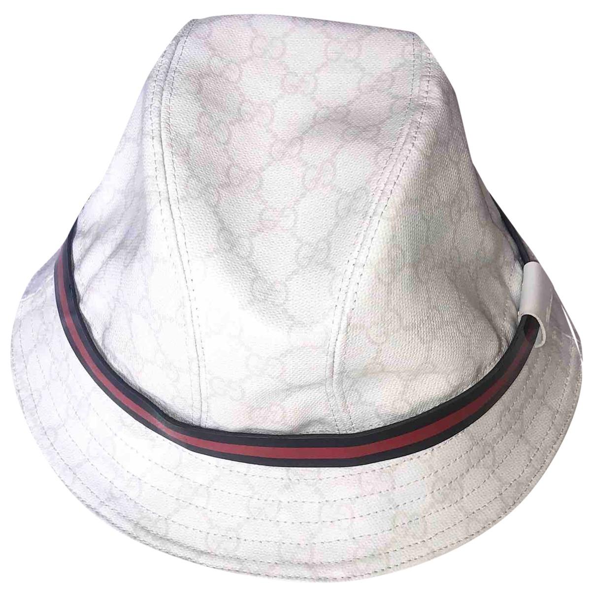 Gucci - Chapeau & Bonnets   pour homme en toile - blanc