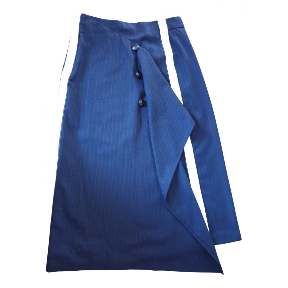 Maje Fall Winter 2019 Navy Cotton skirt for Women 36 FR
