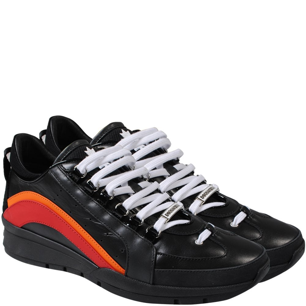 DSquared2 551 Rainbow Trainers Black Colour: BLACK, Size: 8