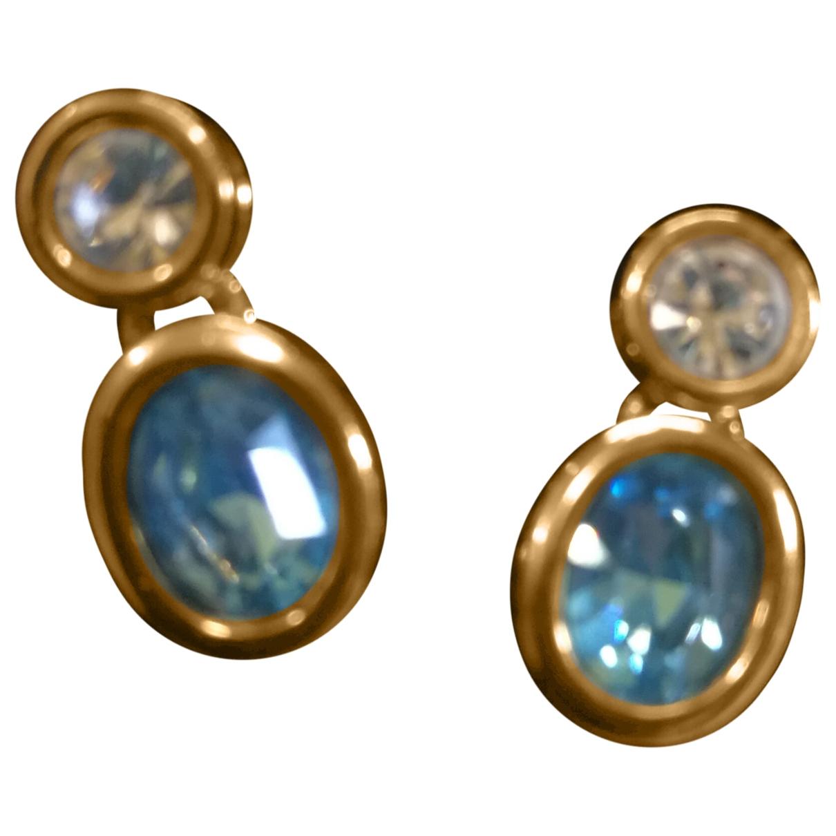 Swarovski \N OhrRing in  Gold Kristall