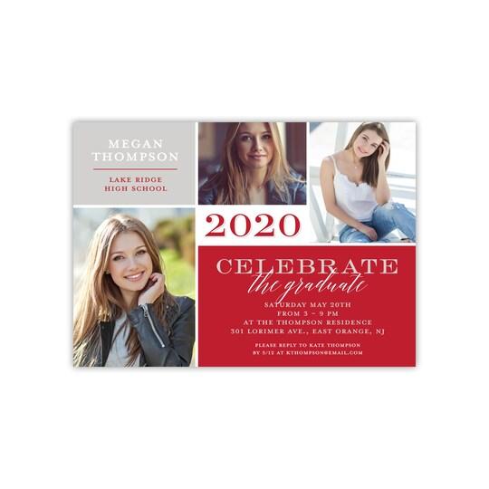 Gartner Studios® Personalized Fine Details Flat Graduation Invite in Brick | 5
