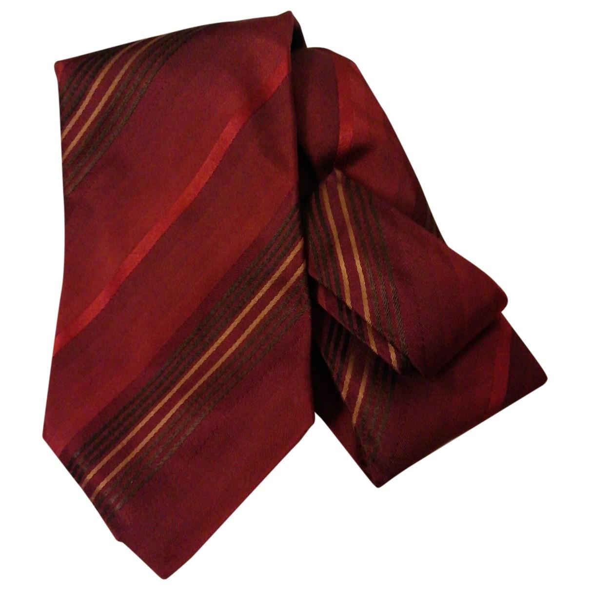 Boss - Cravates   pour homme en soie - bordeaux