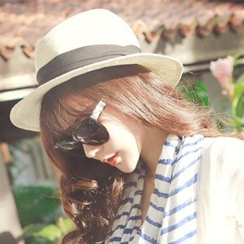 Ericdress Straw Plaited Article Spring Color Block Hat
