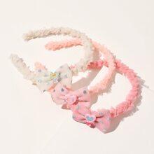 3 piezas aro de pelo de niñitas con lazo