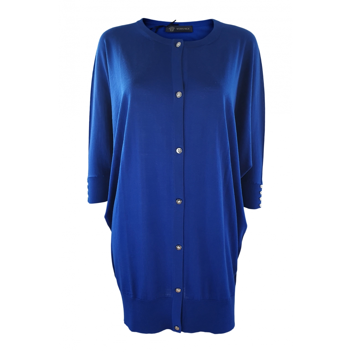 Versace - Robe   pour femme en laine - bleu