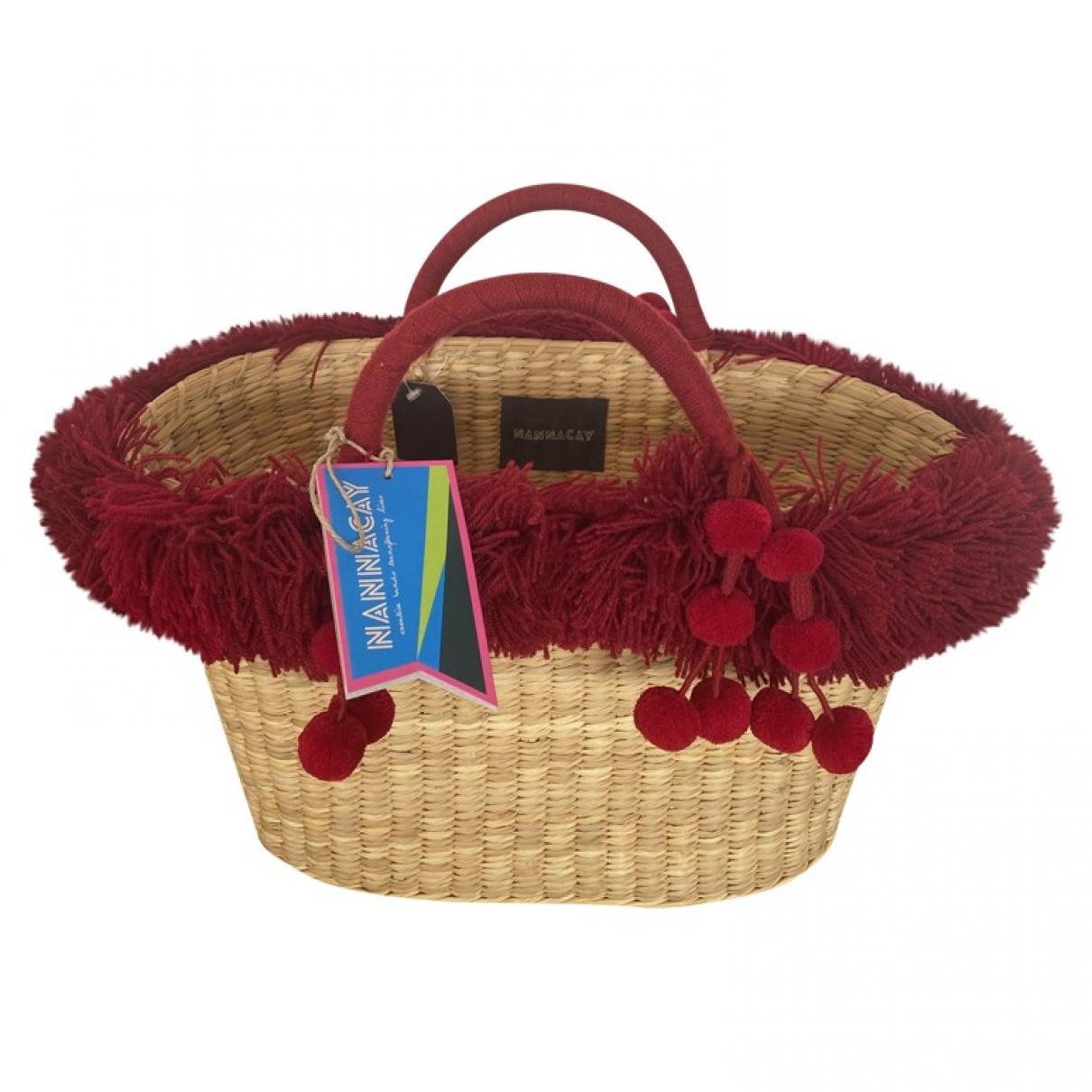 Nannacay \N Handtasche in  Rot Stroh