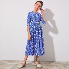 Blau  Reissverschluss  Folkloristisch Bohmisch Maedchen Kleider