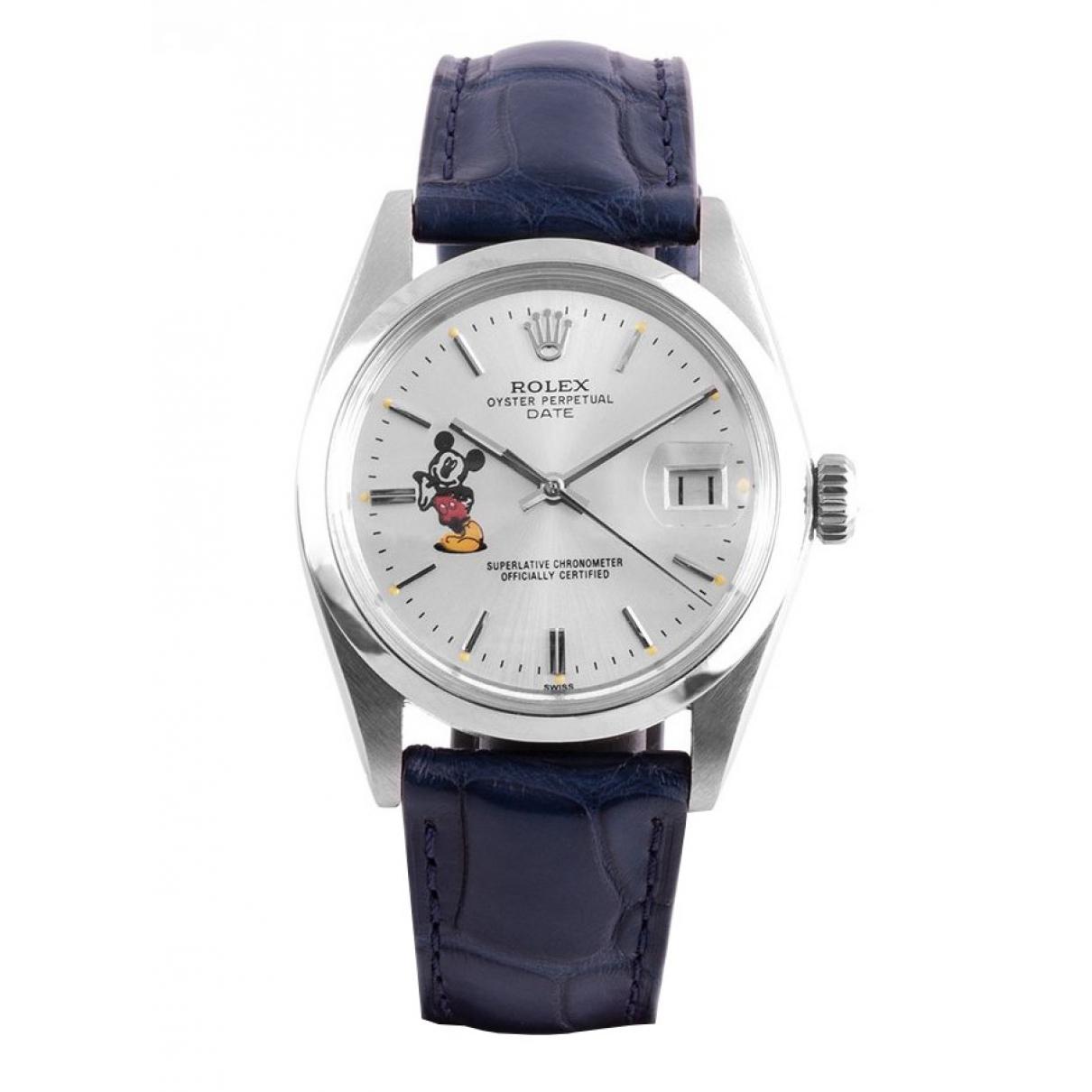 Rolex Oyster Perpetual 34mm Green Steel watch for Women 35.5 EU