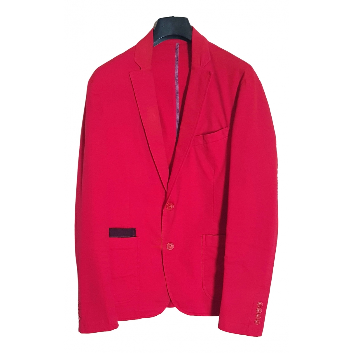 Non Signé / Unsigned \N Red Cotton jacket  for Men 50 IT