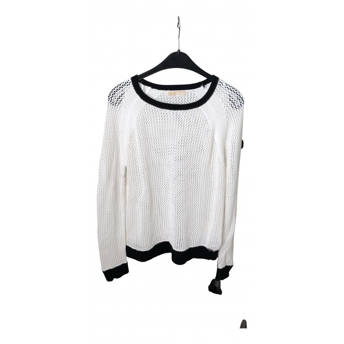 Michael Kors - Pull   pour femme en coton - blanc