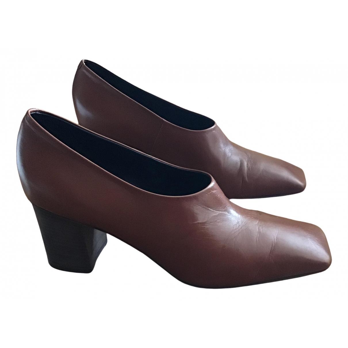 Celine - Escarpins   pour femme en cuir - marron