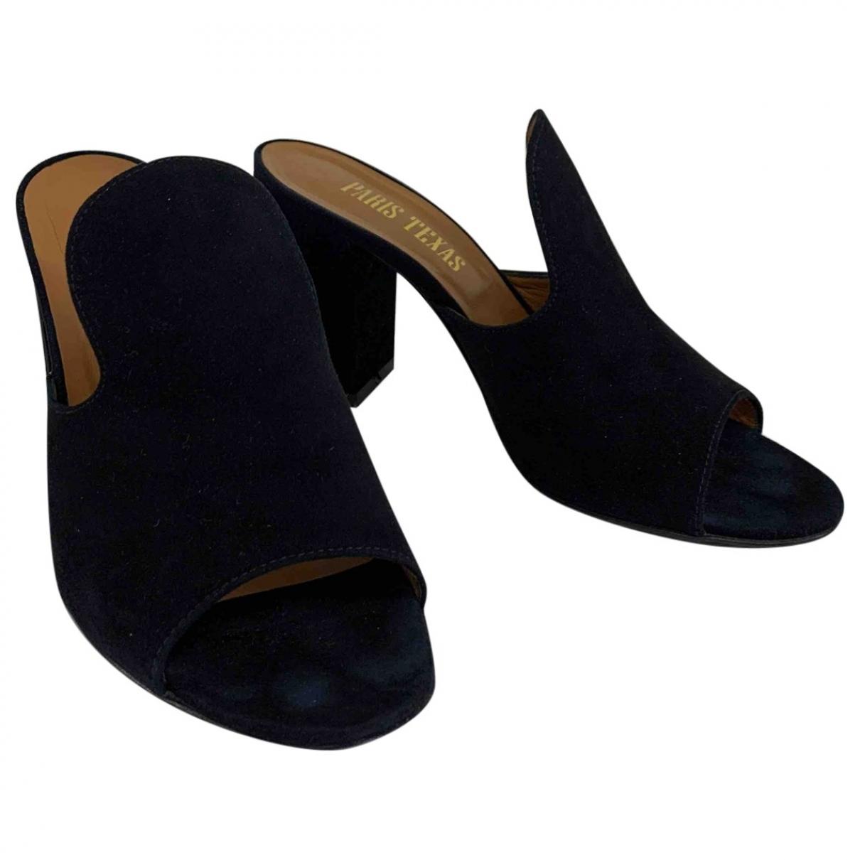 Paris Texas - Sandales   pour femme en suede - noir