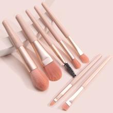Set de pinceles de maquillaje planos y angulados