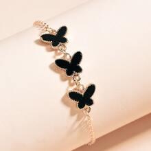 Pulsera de cadena de mariposa