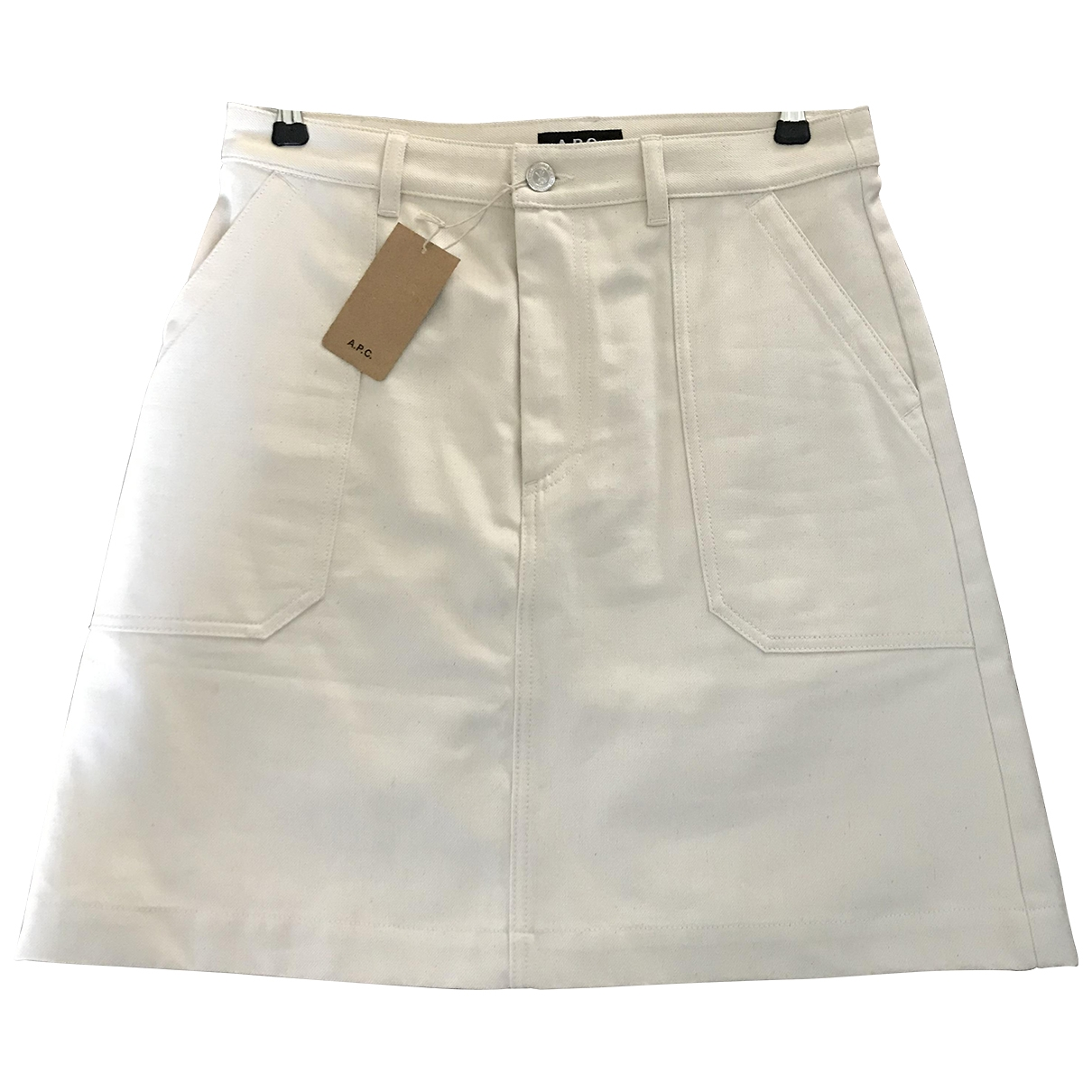 Apc \N Ecru Cotton skirt for Women 38 FR
