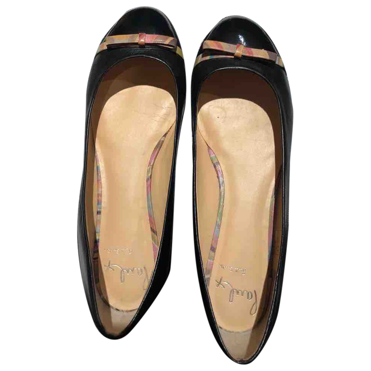 Paul Smith N Black Leather Flats for Women 6 UK