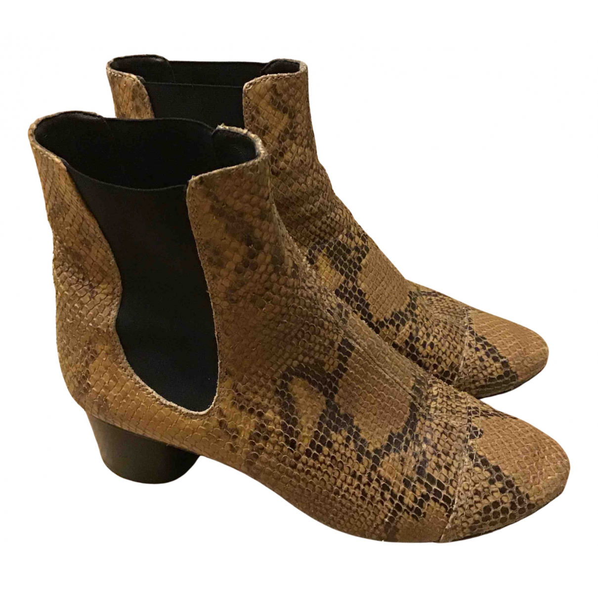 Isabel Marant N Camel Water snake Ankle boots for Women 37 EU