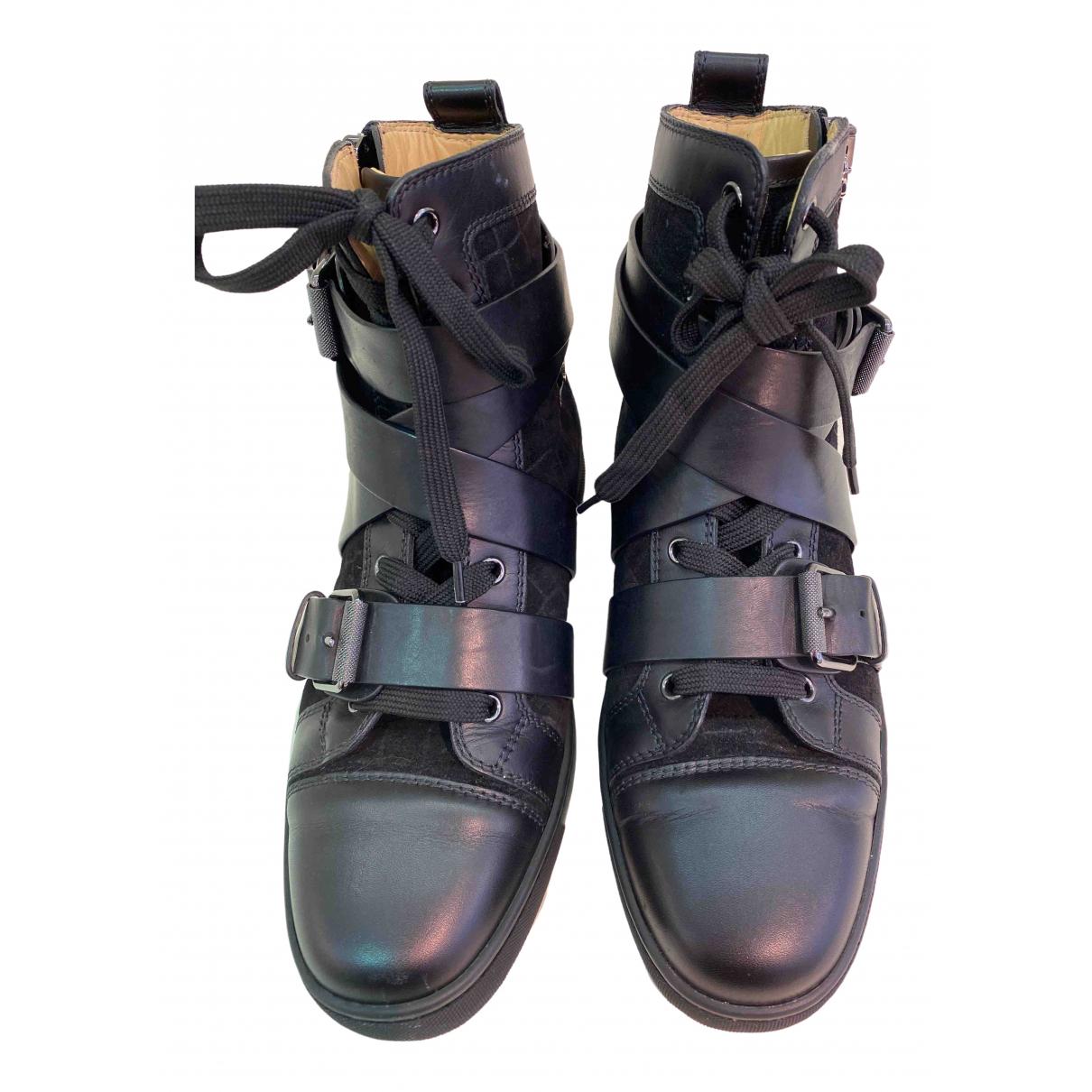 Christian Louboutin \N Black Leather Trainers for Women 40 EU
