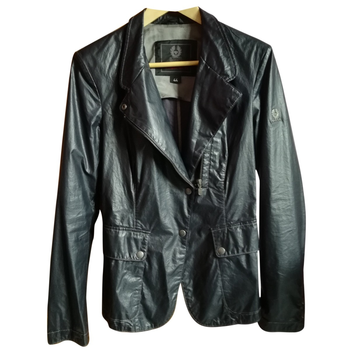 Belstaff \N Black Cotton Leather jacket for Women 40 FR