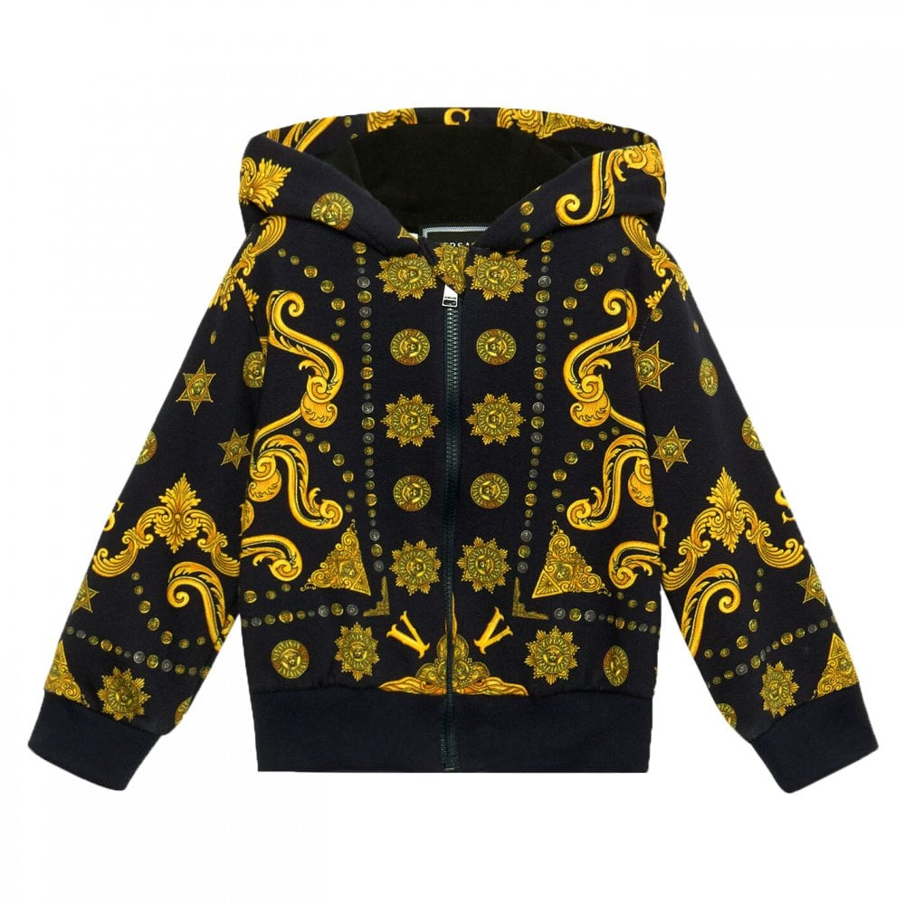 Versace Baby Boy Navy Gold Hoodie Colour: NAVY, Size: 6/9