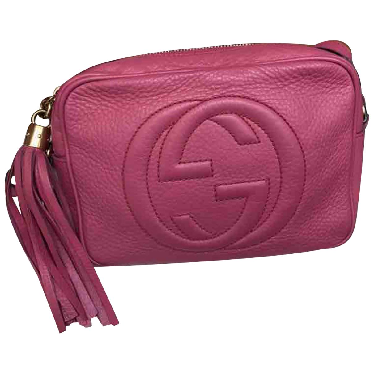 Gucci - Sac a main Soho pour femme en cuir - rose