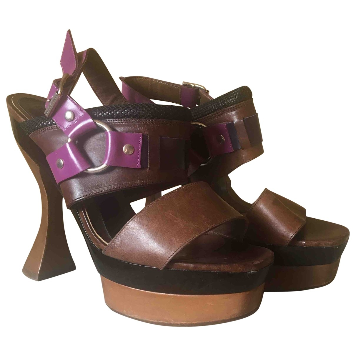 Marni \N Multicolour Leather Sandals for Women 39 EU