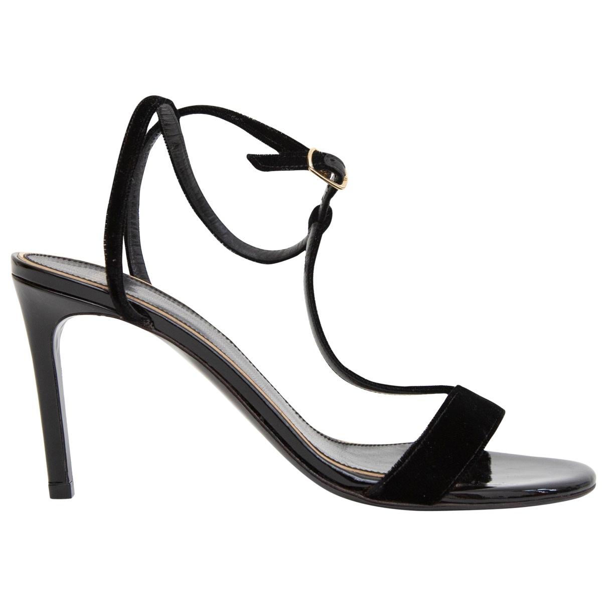 Lanvin - Sandales   pour femme en velours - noir