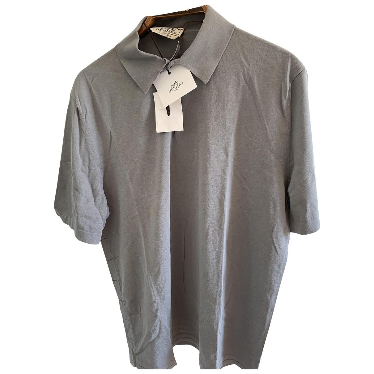 Hermes \N Poloshirts in  Grau Baumwolle