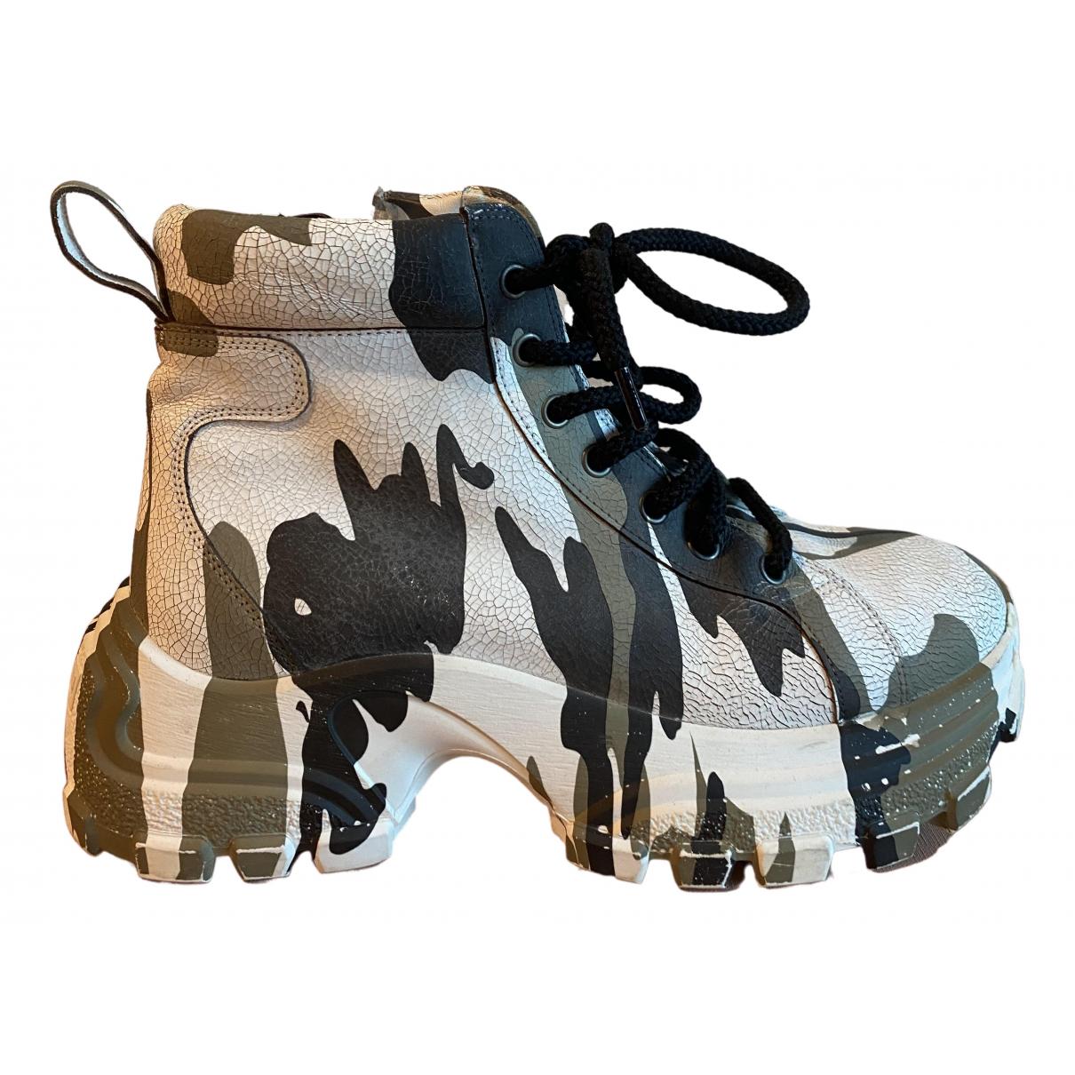 Miu Miu - Boots   pour femme en cuir - multicolore