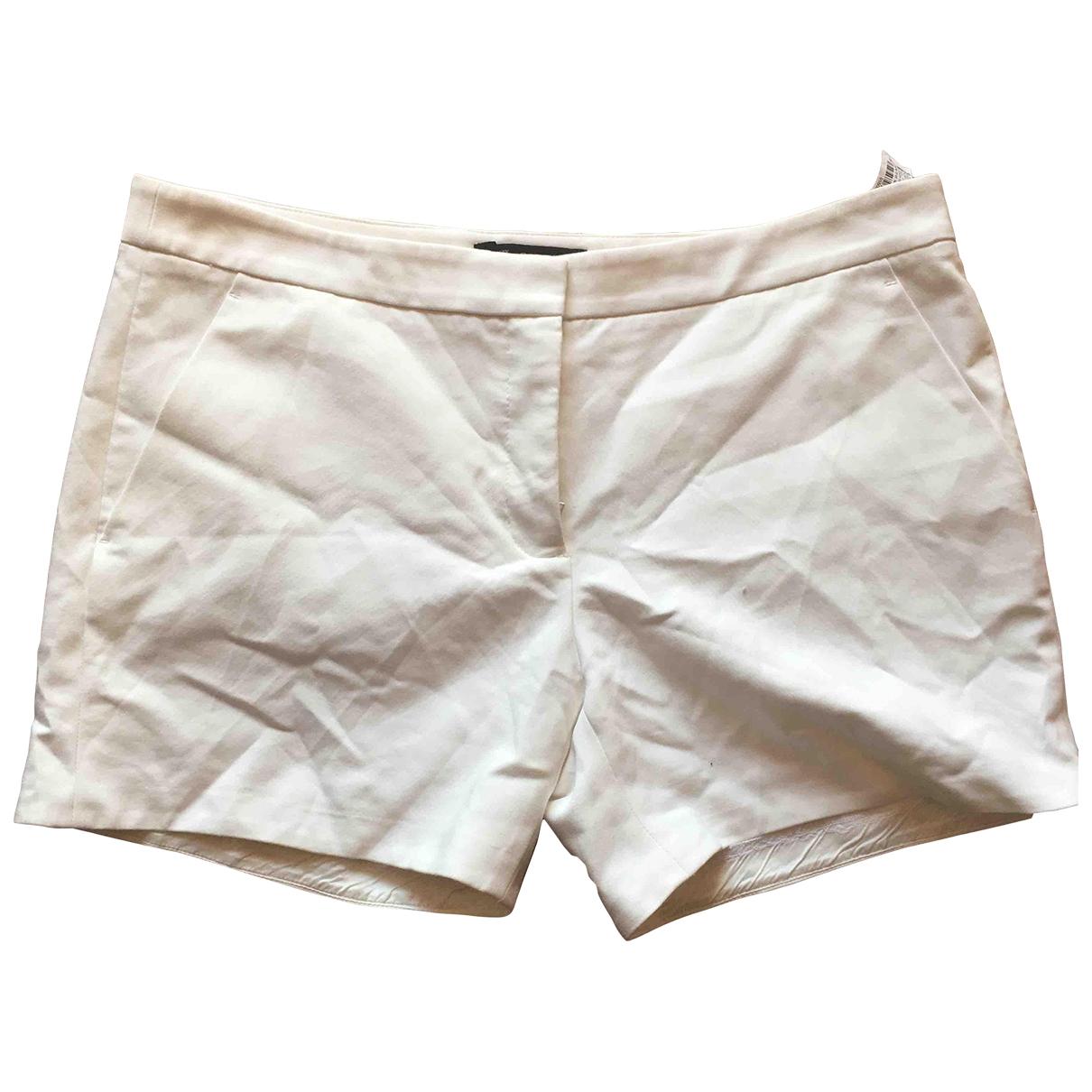 Zara \N Shorts in  Weiss Baumwolle - Elasthan