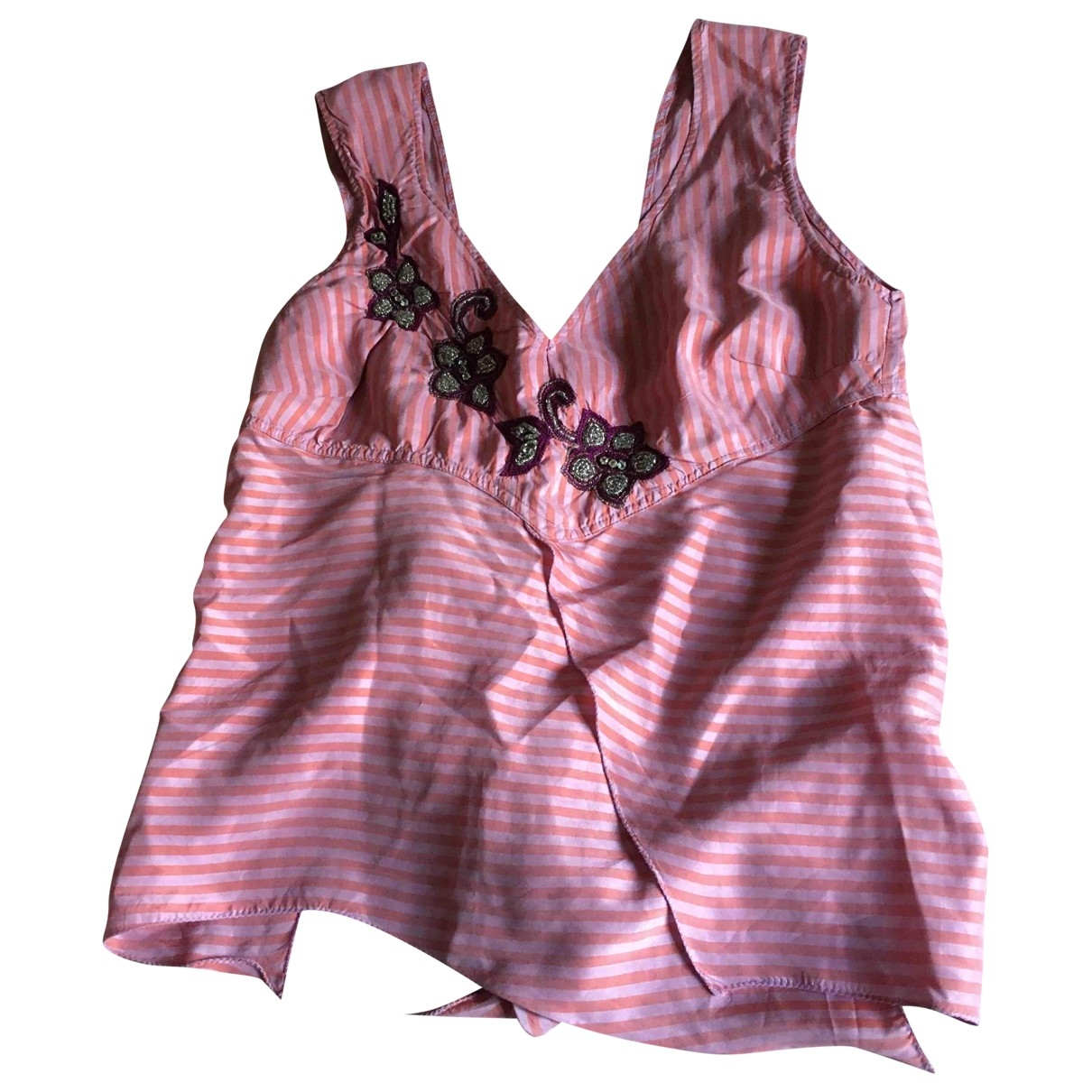 Non Signé / Unsigned \N Pink Silk  top for Women 44 IT
