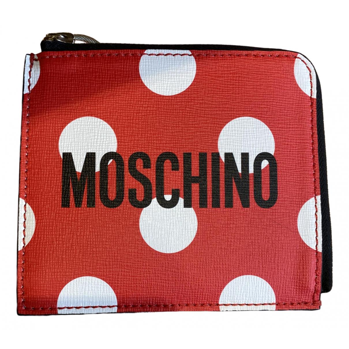 Moschino \N Portemonnaie in  Rot Leder