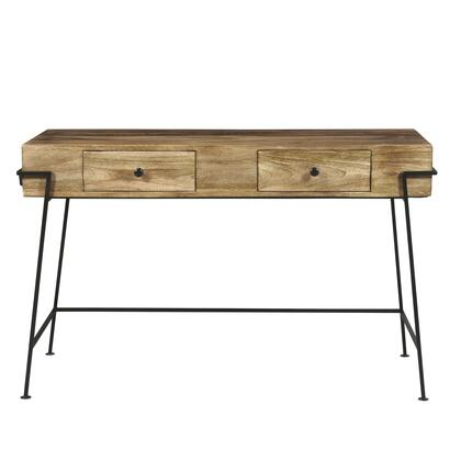 DS-D281-800 Two Drawer Butcher Block Style Wooden