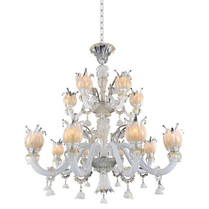 027172-014-FR001 Artemisia 15-Light Chandelier with Clear Firenze Style  120V in Silver