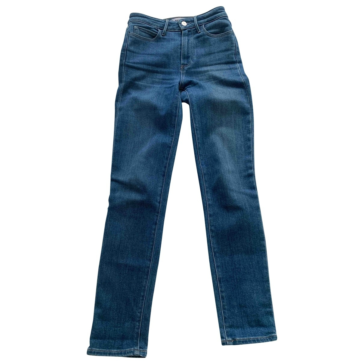 Paige Jeans \N Blue Cotton - elasthane Jeans for Women 24 US