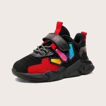 Jungen Sneakers mit Farbblock und Klettverschluss