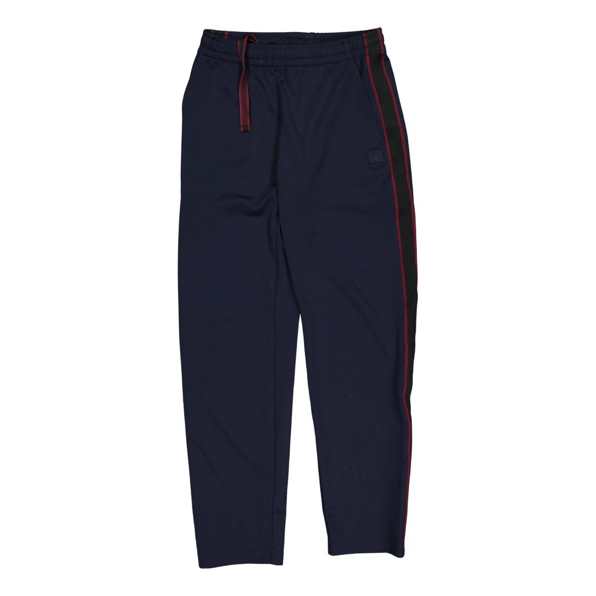Acne Studios N Navy Trousers for Men XXS International