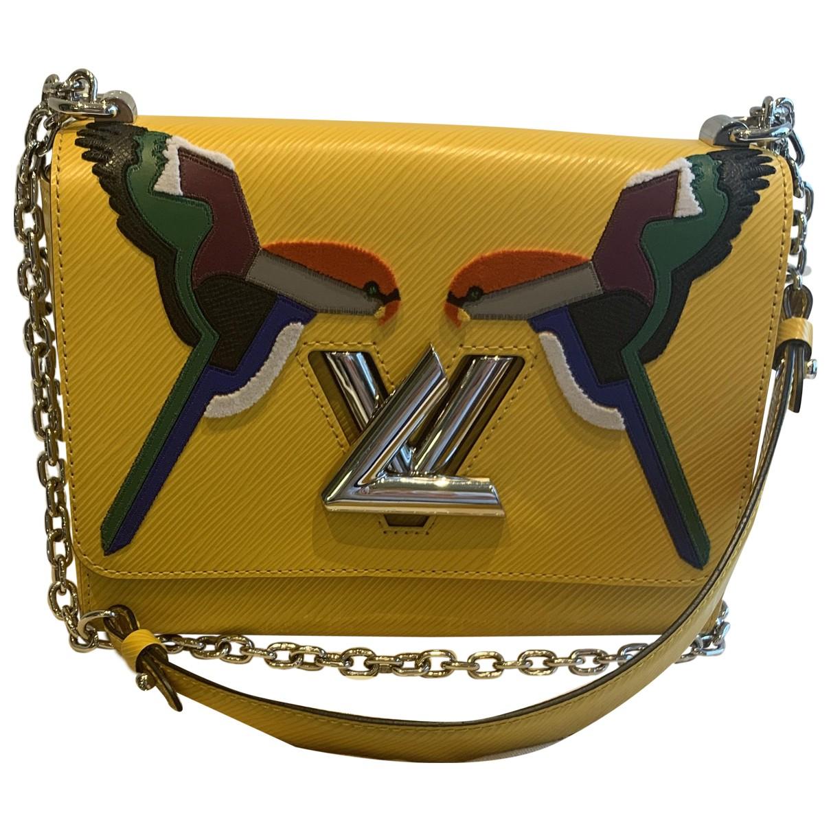 Louis Vuitton Twist Handtasche in  Gelb Leder